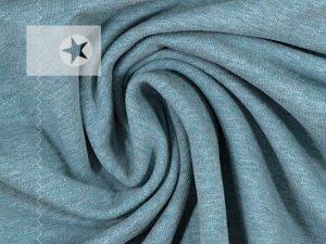 Sweatstoff angeraut blaugrau meliert