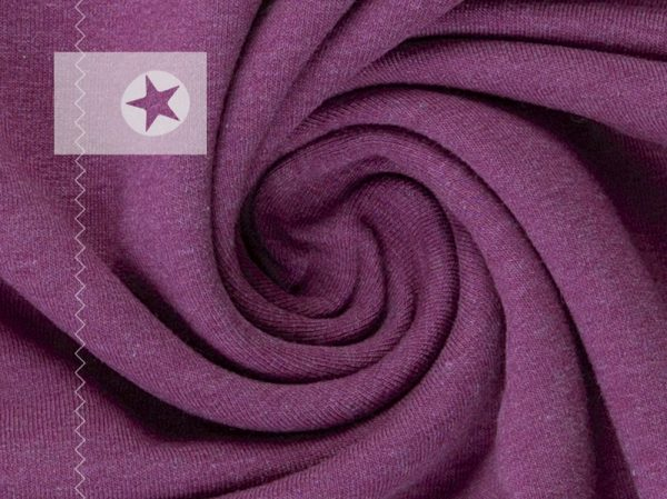 Sweatstoff angeraut lila meliert
