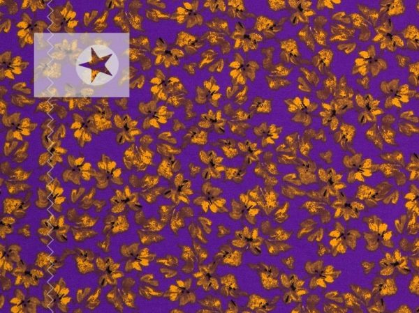 Sweatstoff Autumn Flower violett