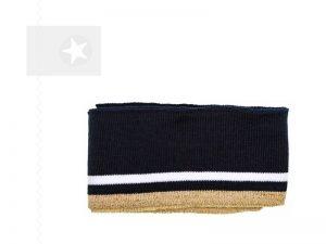 Cuff Fertigbündchen mit Glitzer navy gold