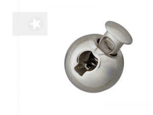 Runder Kordelstopper aus Metall silber