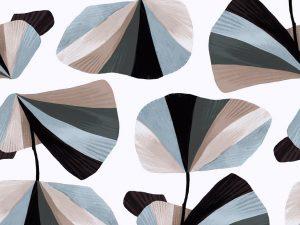 Cotton + Steel Baumwoll Webware In Bloom pebble