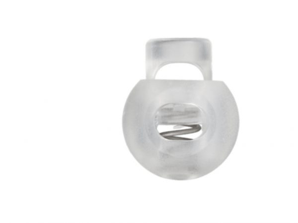 Kordelstopper Durchlass 8 mm transparent