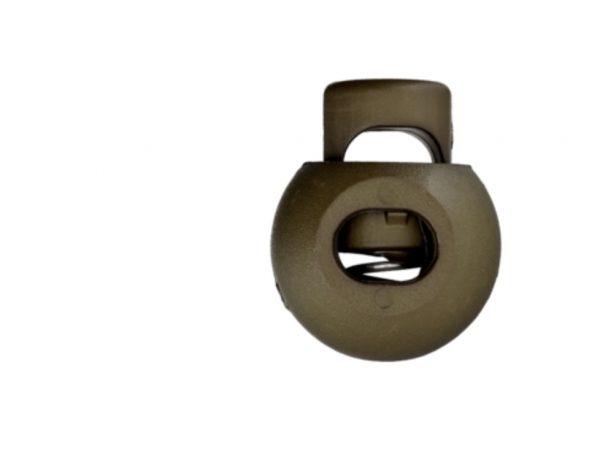 Kordelstopper Durchlass 8 mm khaki