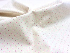 Cotton + Steel Canvas Mini Dots neon pink