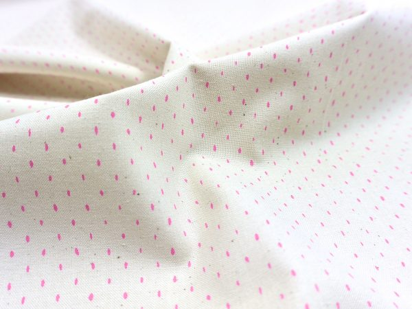 Cotton + Steel Canvas Mini Dots neon pink