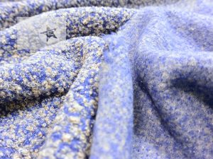 Bouclé Strick steel blue