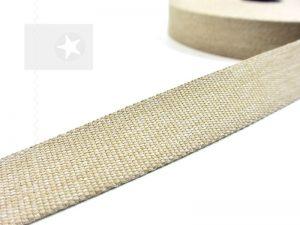 1 m Gurtband 30 mm natur meliert