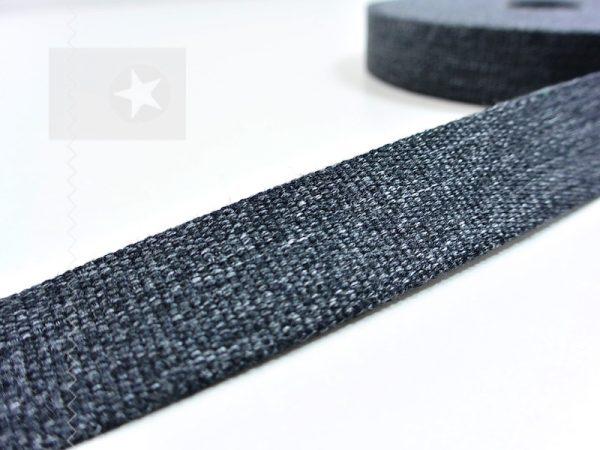 1 m Gurtband 30 mm anthrazit meliert