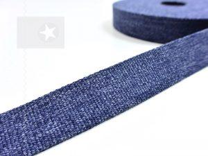 1 m Gurtband 30 mm jeansblau meliert