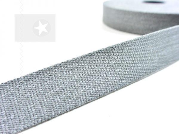 1 m Gurtband 30 mm grau meliert