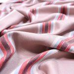 Viskose Stoff Sparkling Stripes old rose