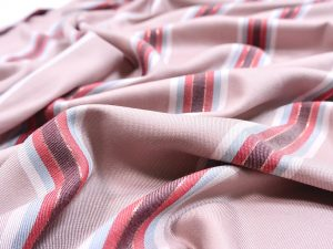 Viskose Stoff Sparkling Stripes old rose