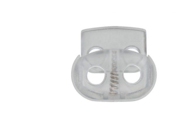 Kordelstopper Durchlass 5 mm transparent