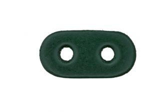 Kordelstopper aus echtem Leder dunkelgrün