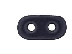 Kordelstopper aus echtem Leder dunkelblau