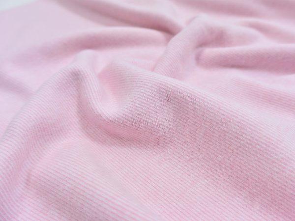 Soft Touch Interlock Mini Stripes light rose