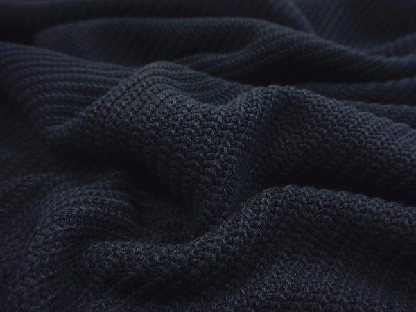Baumwoll Grobstrick Vintage Look black