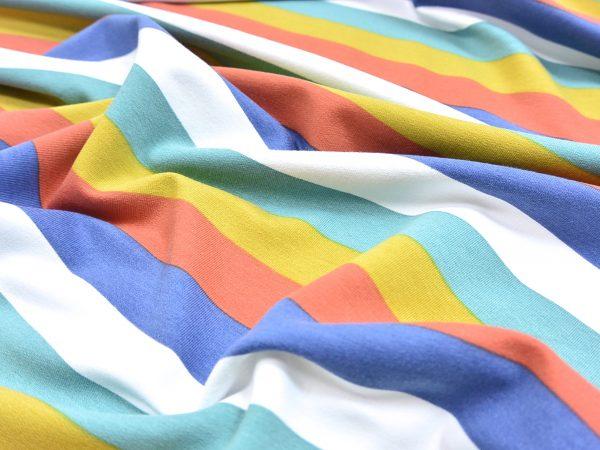 Sweat Stoff Streifen multicolor