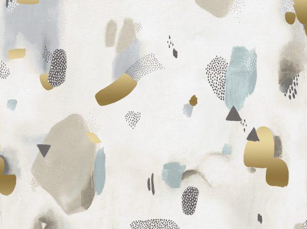 Cotton + Steel Baumwoll Webware Pastel Parade vellum metallic