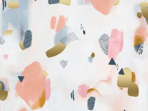 Cotton + Steel Baumwoll Webware Pastel Parade peachy metallic