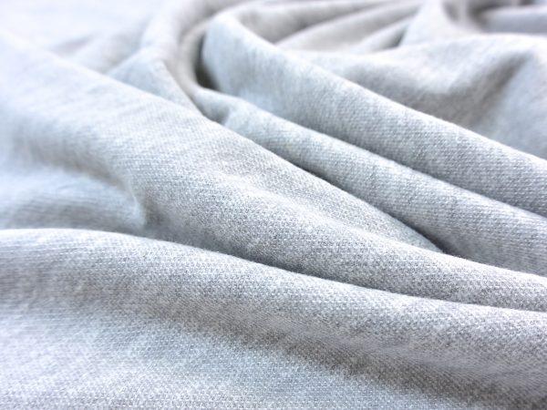 Organic Brushed Piqué light grey