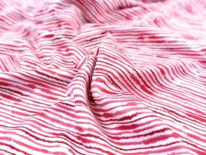 Jersey Stoff Ocean Breeze Red Lines