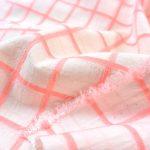Baumwoll Viskose Jacquard pink Squares