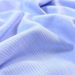 Fibremood Baumwolle Viskose Small Stripes light blue