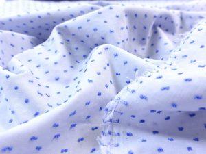 Baumwoll Batist Dobby Dots breezy blue