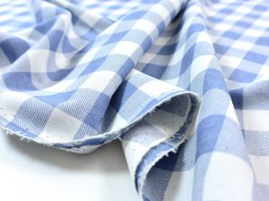 Soft Cotton Basic Check lightblue