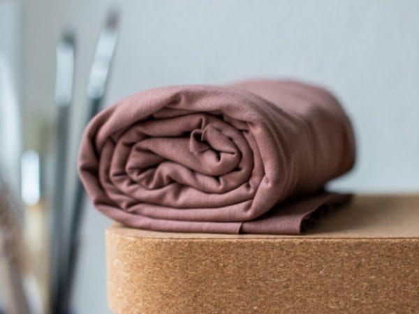Meet Milk Basic Stretch Jersey mit TENCEL™ Fasern old rose