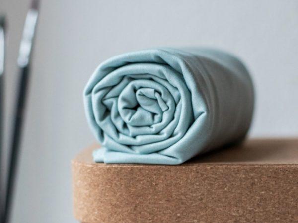 Meet Milk Basic Stretch Jersey mit TENCEL™ Fasern blue mist