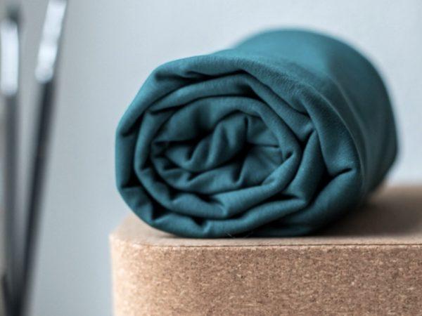 Meet Milk Basic Stretch Jersey mit TENCEL™ Fasern emerald