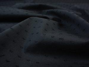 Baumwoll Batist Dobby Dots schwarz