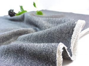 Baumwoll Stricksweat schwarz