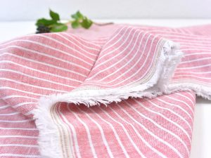 Leinen Baumwolle Mid Stripes strawberry