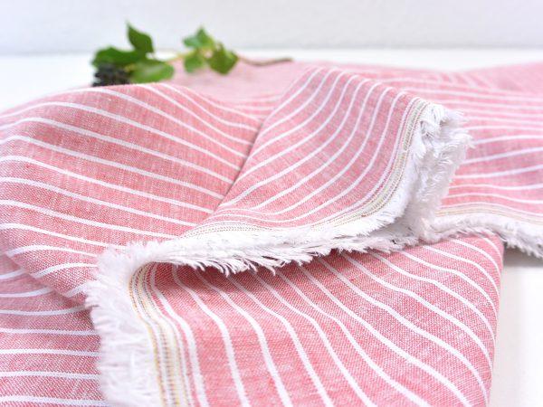 Leinen Baumwolle Mid Stripes strawberry