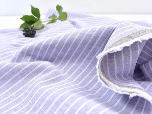 Leinen Baumwolle Mid Stripes lavender