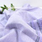 Leinen Baumwolle Fischgrat lavender