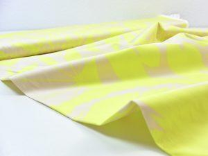 Fibremood elastischer Baumwoll Satin zitrone