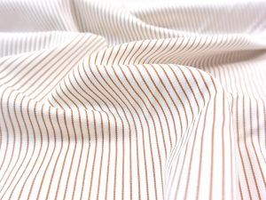 Fibremood elastischer Hosenstoff Pin Stripe caramel