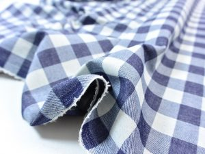 Soft Cotton Basic Check indigo