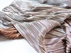 Plissee Stoff kupfer metallic