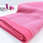 80 cm Honeycomb Knit by clarasstoffe raspberry kiss