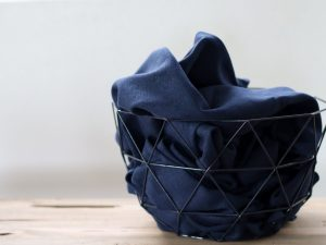 Mind the MAKER Cotton Flamé Interlock indigo blue