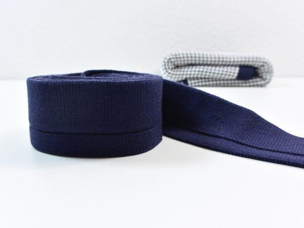 4 cm Cuff für Honeycomb Knit by clarasstoffe navy