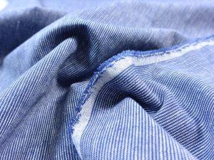 Leinen Baumwolle Mini Stripes ocean