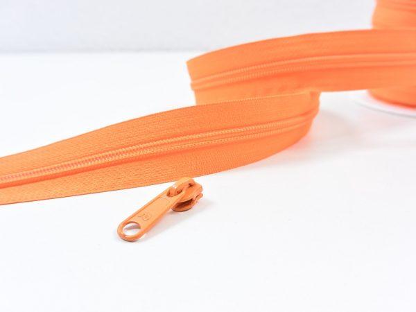 Reißverschluss Meterware orange