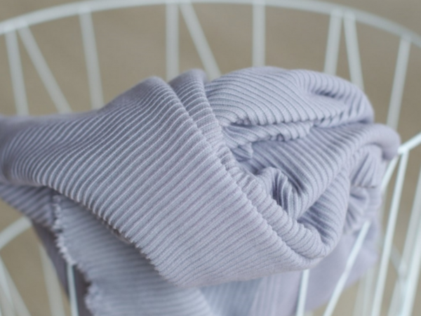 Meet MILK Self- Stripe Ottoman Knit mit LENZING™ ECOVERO™ Fasern purple haze